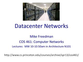 Datacenter Networks