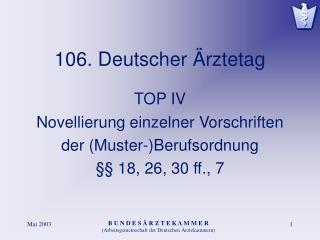 106. Deutscher Ärztetag