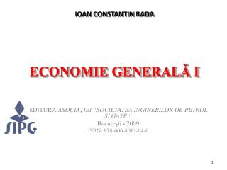 ECONOMIE GENERALĂ I