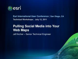Pulling Social Media into Your Web Maps