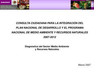 CONSULTA CIUDADANA PARA LA INTEGRACIÓN DEL  PLAN NACIONAL DE DESARROLLO Y EL PROGRAMA