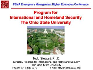 Program for International and Homeland Security The Ohio State University