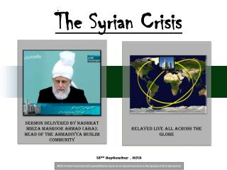 The Syrian Crisis