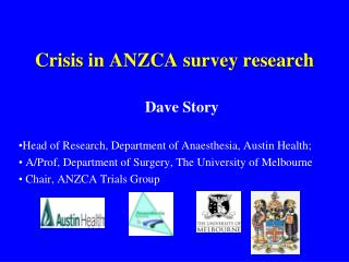 Crisis in ANZCA survey research