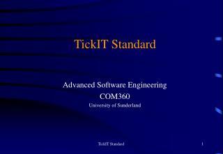TickIT Standard