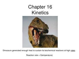 Chapter 16 Kinetics