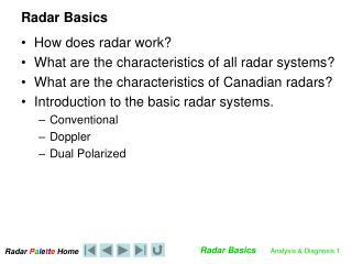 Radar Basics
