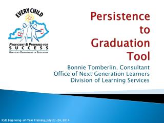 Persistence  to  Graduation  Tool
