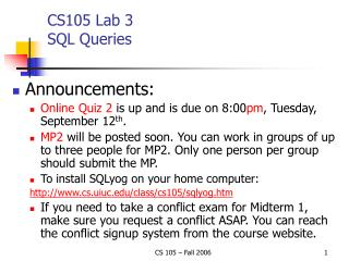 CS105 Lab 3 SQL Queries