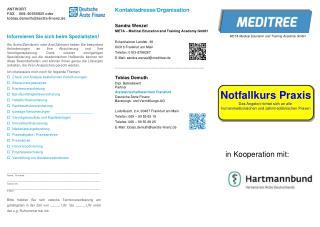 ANTWORT FAX 069–90556925 oder tobias.demuth@aerzte-finanz.de