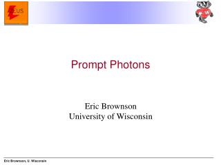 Eric Brownson University of Wisconsin