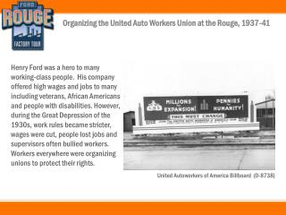 Organizing the American Auto Workers at the Rouge