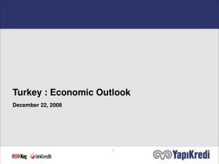 Turkey : Economic Outlook December 22, 2008