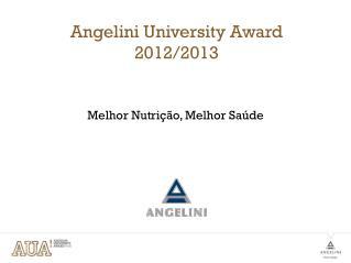 Angelini  University Award 2012/2013