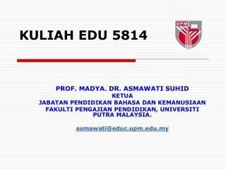 KULIAH EDU 5814