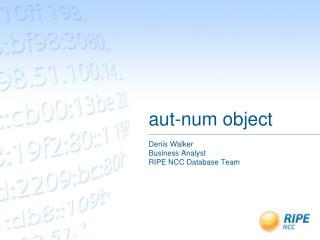 aut-num object
