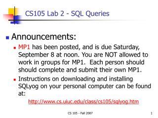 CS105 Lab 2 - SQL Queries