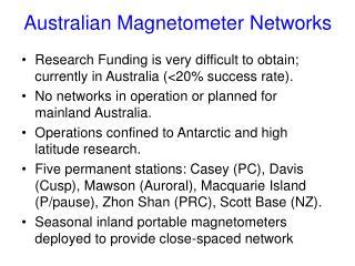 Australian Magnetometer Networks