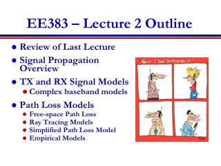 EE383  � Lecture 2 Outline