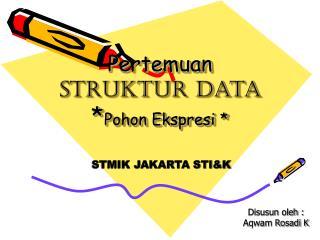 Pertemuan  Struktur Data * Pohon Ekspresi *