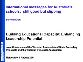 Building Educational Capacity: Enhancing Leadership Potential