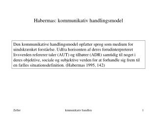 Habermas: kommunikativ handlingsmodel