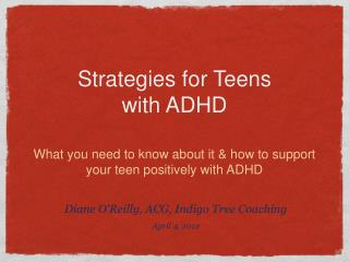 Strategies for Teens with ADHD