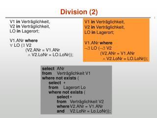 Division (2)