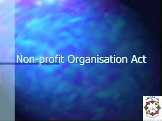 Non-profit Organisation Act