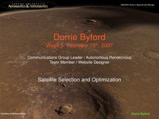 Dorrie Byford Week 5: February 15 th , 2007