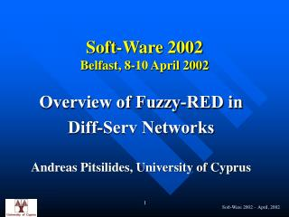 Soft-Ware 2002 Belfast, 8-10 April 2002