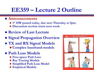 EE359 – Lecture 2 Outline