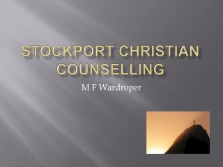 Stockport Christian counselling