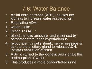 7.6: Water Balance