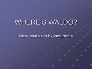 WHERE�S WALDO?