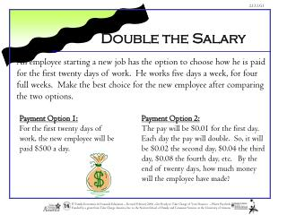 Double the Salary
