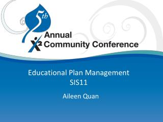 Educational Plan Management SIS11