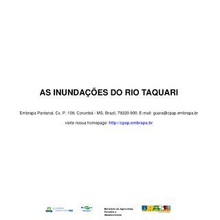 AS INUNDAÇÕES DO RIO TAQUARI