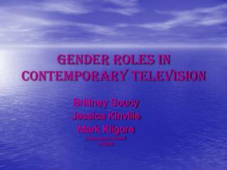 Gender roles in contemporary television