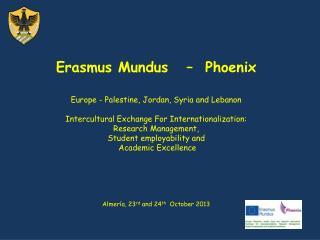 Erasmus Mundus   –  Phoenix