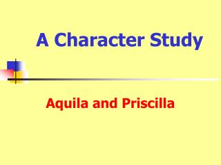 A Character Study