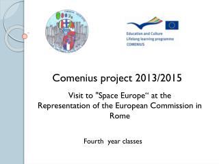 Comenius project 2013/2015