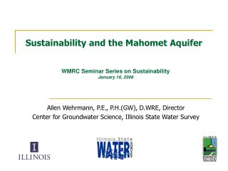 Sustainability and the Mahomet Aquifer