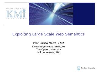 Exploiting Large Scale Web Semantics