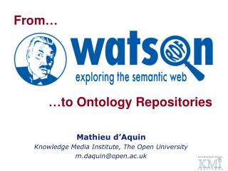 …to Ontology Repositories