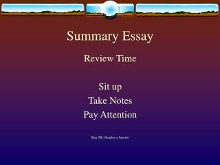 Summary Essay