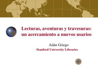 Ad�n Griego Stanford University Libraries