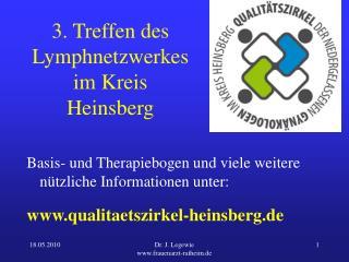 3. Treffen des Lymphnetzwerkes im Kreis Heinsberg