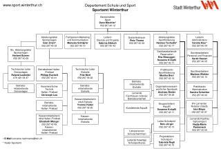 Departement Schule und Sport Sportamt Winterthur