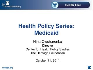 Health Policy Series: Medicaid